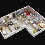 illustration maison 3 pièces