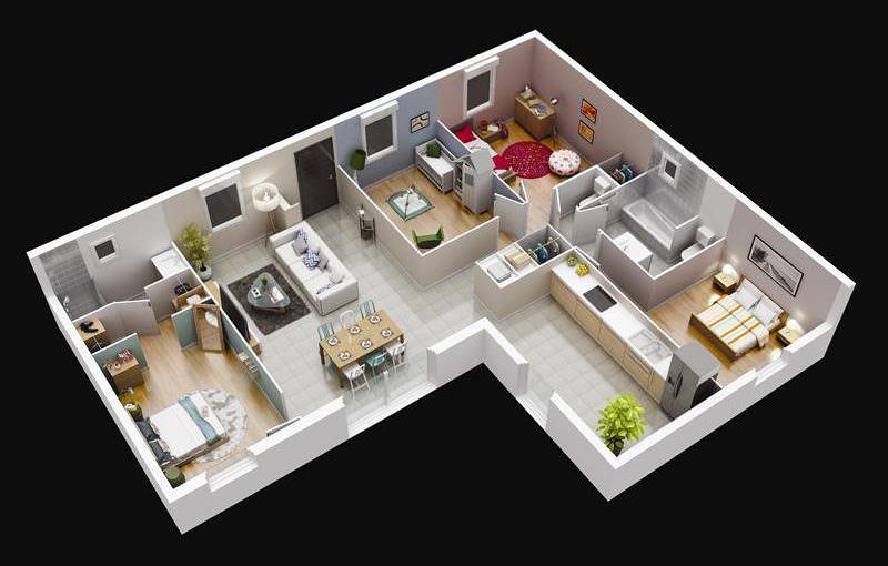 maison 3 pi ces top maison. Black Bedroom Furniture Sets. Home Design Ideas