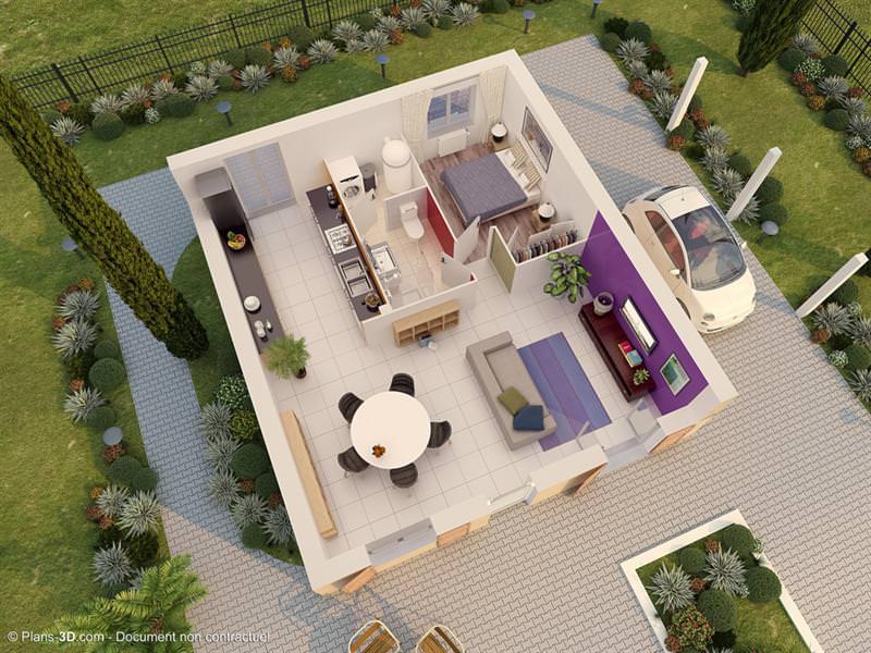 exemple maison 3 pièces