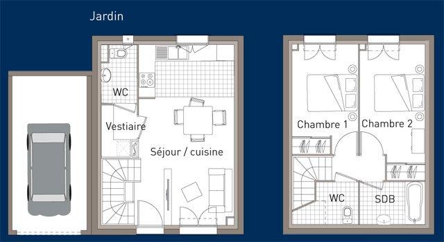 visualiser maison 3 pièces