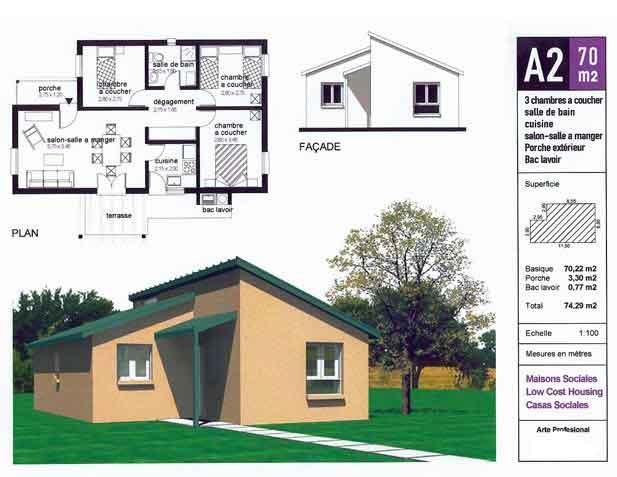 maison 70m2 top maison. Black Bedroom Furniture Sets. Home Design Ideas