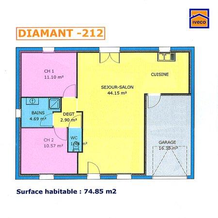 modèle maison 70m2 plein pied