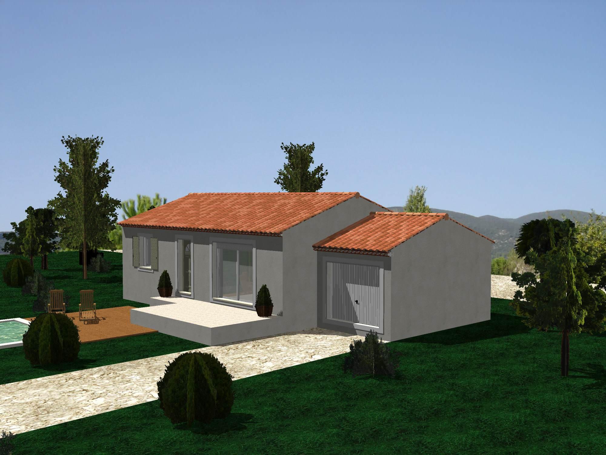 maison 70m2 plein pied top maison. Black Bedroom Furniture Sets. Home Design Ideas