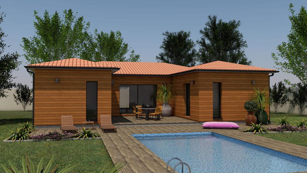 modèle maison bois