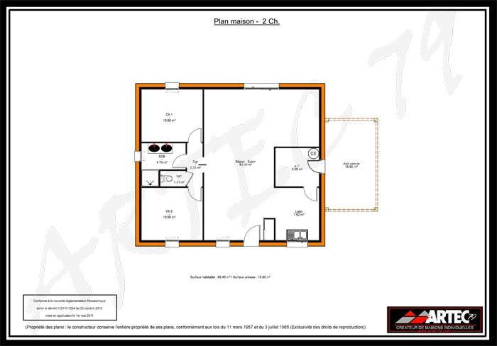 idée maison 2 chambres