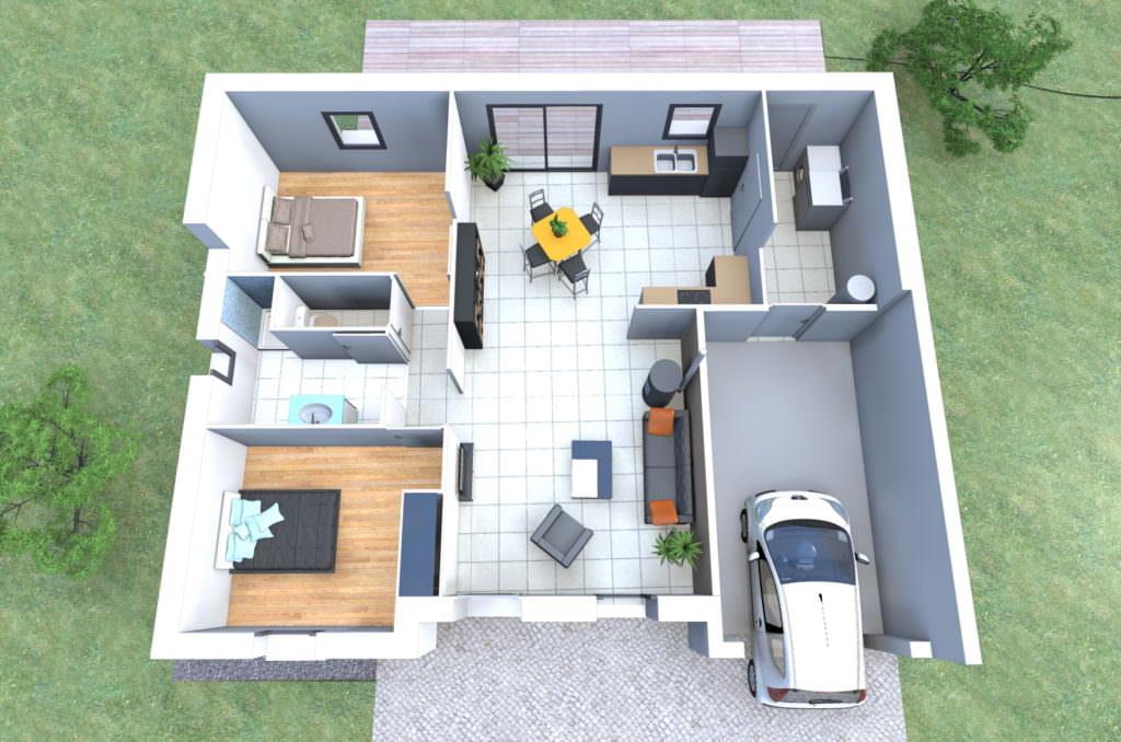 image maison 2 chambres