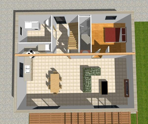 exemple maison 2 chambres