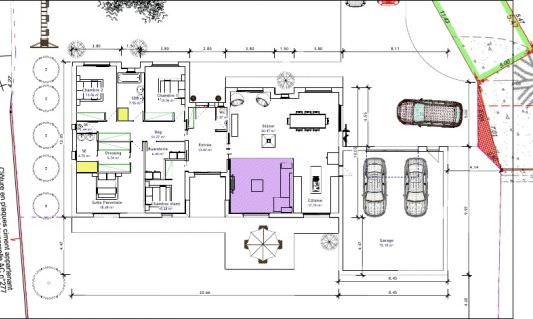 Plan architecte maison 200m2 for Plan maison moderne 200m2