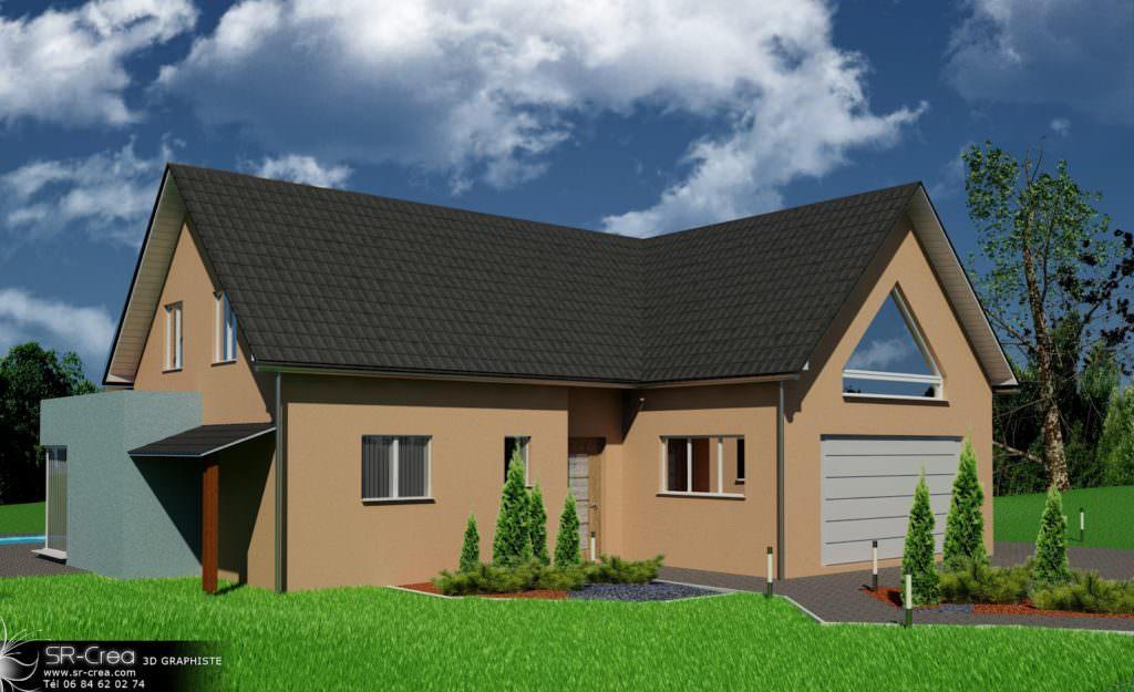 illustration maison 3d