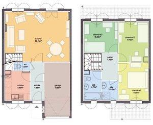 plan maison 4 pieces