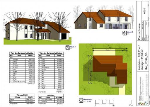illustration maison 6 chambres