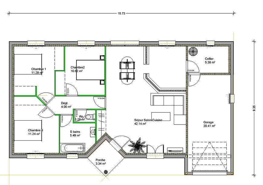 visualiser maison 6 chambres
