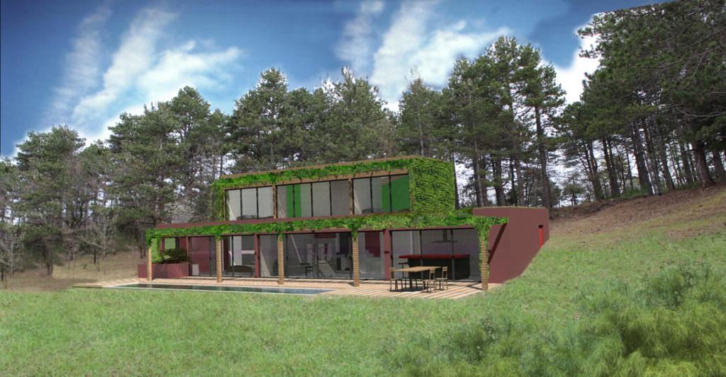 modèle maison bioclimatique