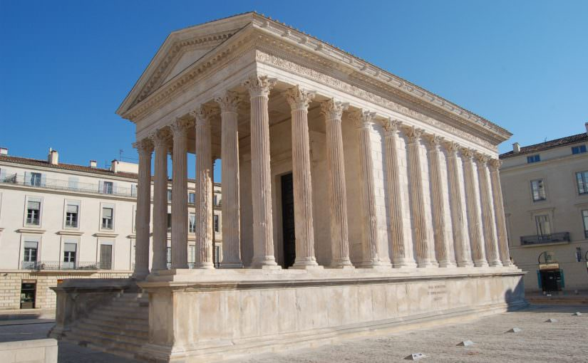 illustration maison carrée