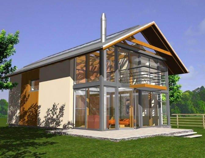 Maison ecologique top maison - Maison en kit ecologique ...