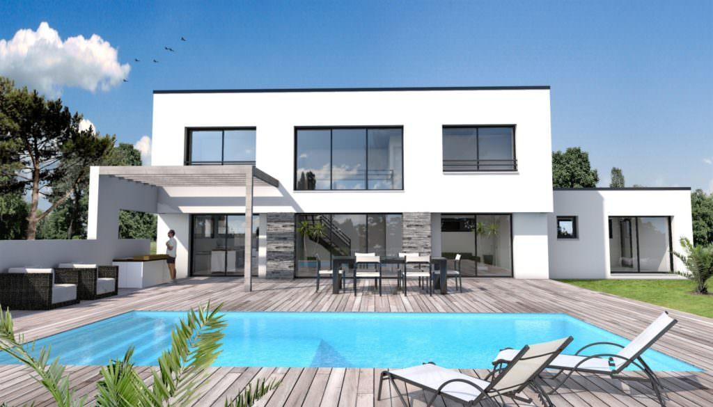 illustration maison moderne