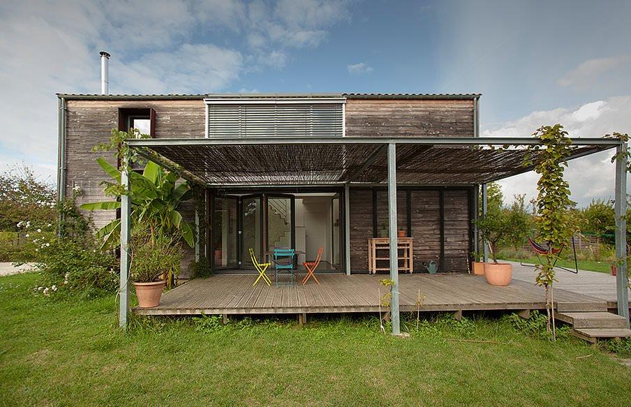illustration maison passive
