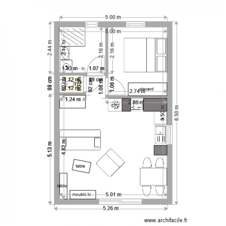 plan appartement 40m2
