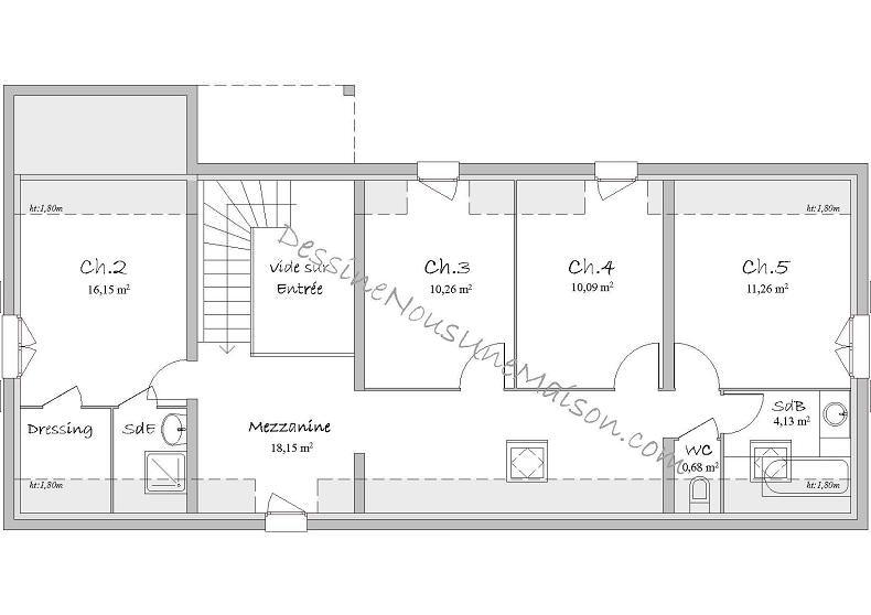 modèle maison 5 chambres