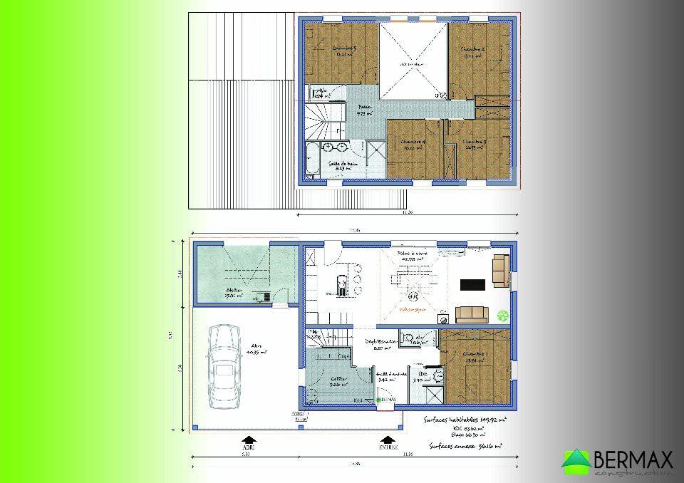 Maison 6 chambres plan
