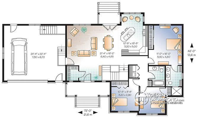image maison 6 chambres plan