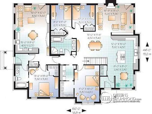 superbe maison 6 chambres plan