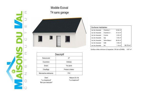 Maison 60m2 top maison for Chambre 60m2