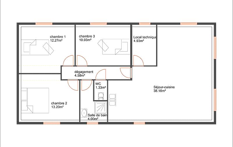 Maison 90m2