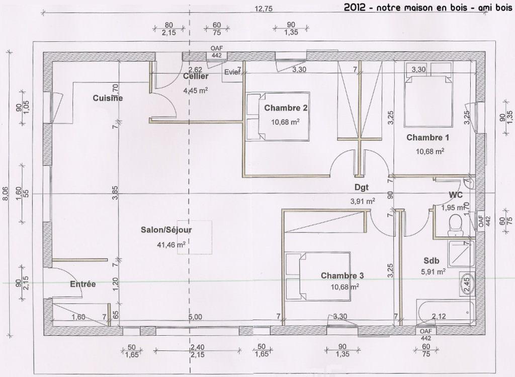 modèle maison 90m2
