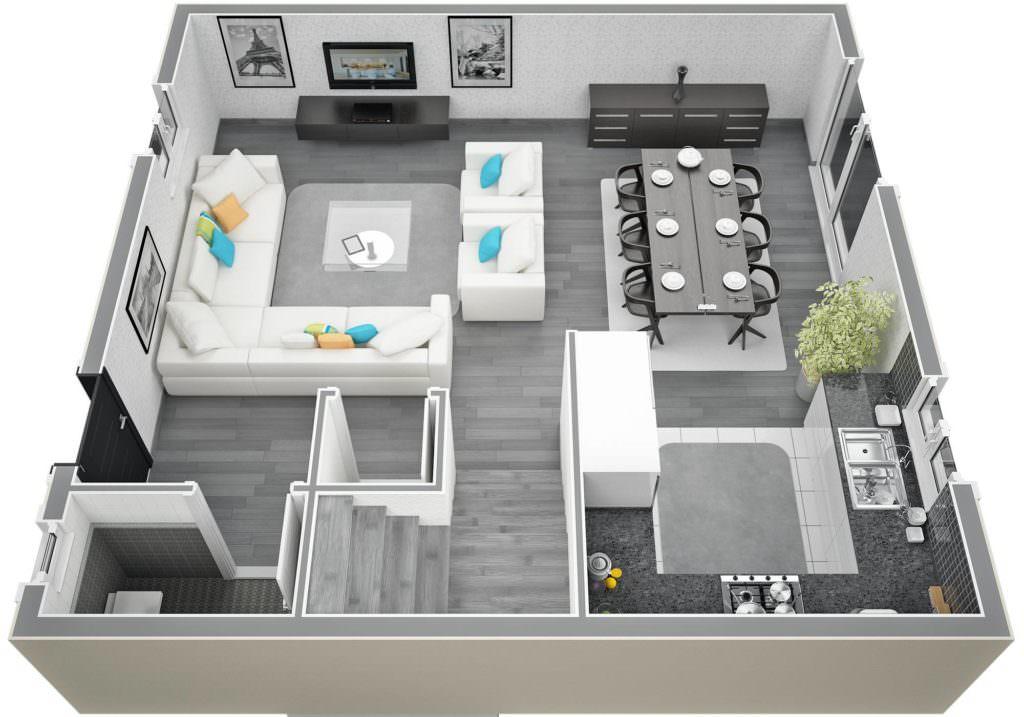 exemple maison 90m2