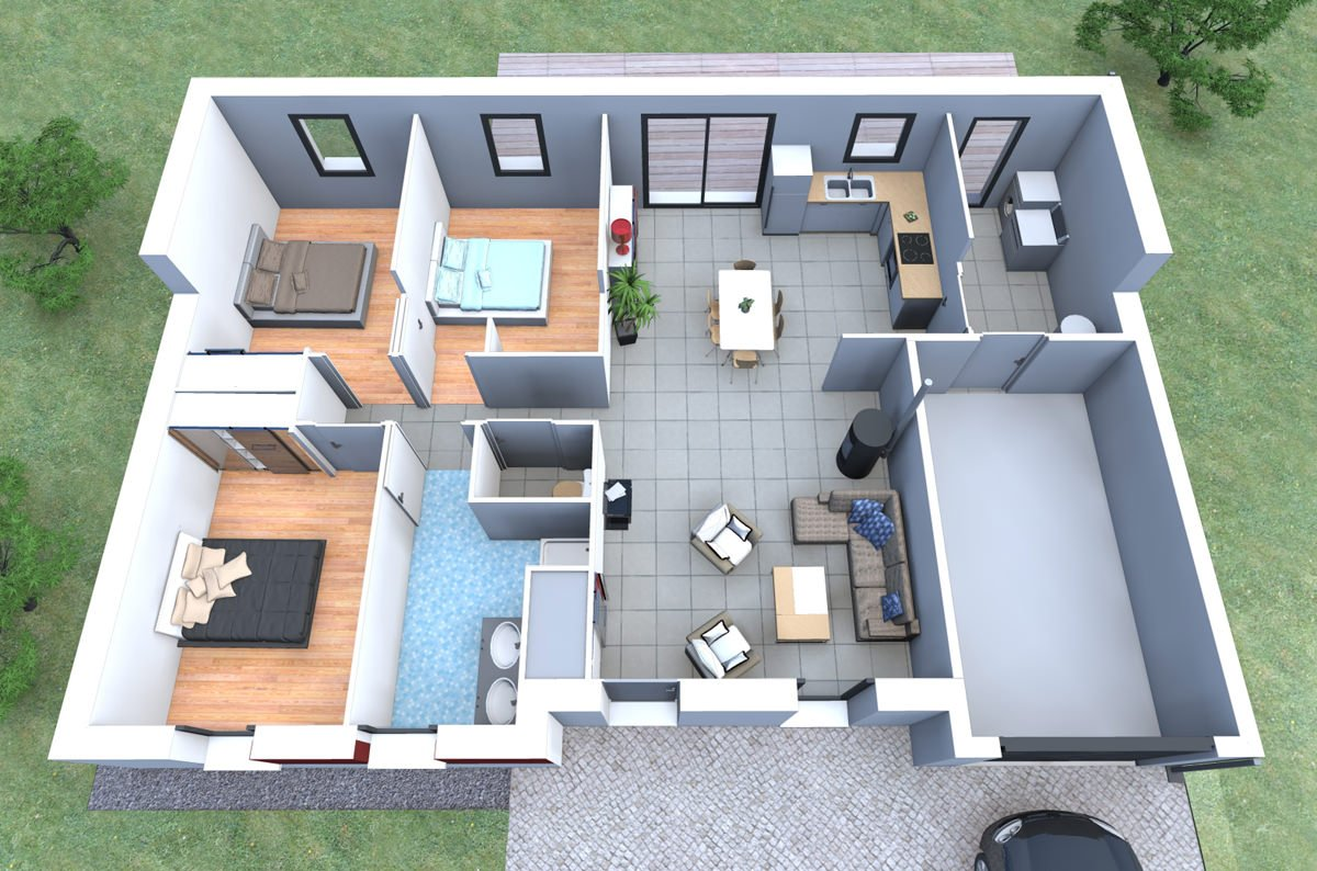 Maison 90m2 – top maison