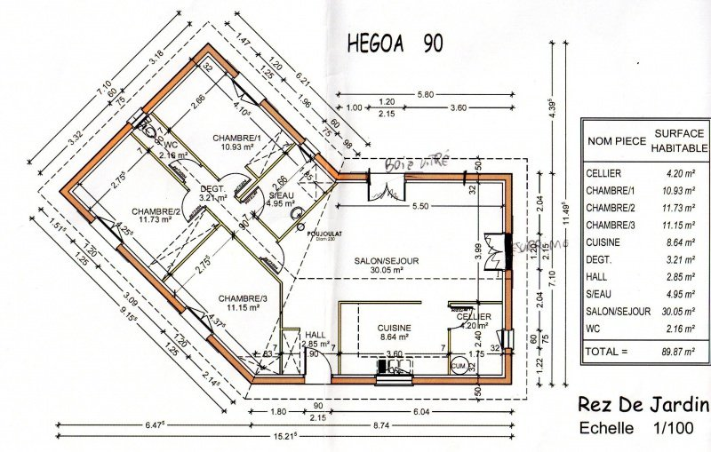 Maison 90m2 top maison - Plan de maison en l gratuit ...