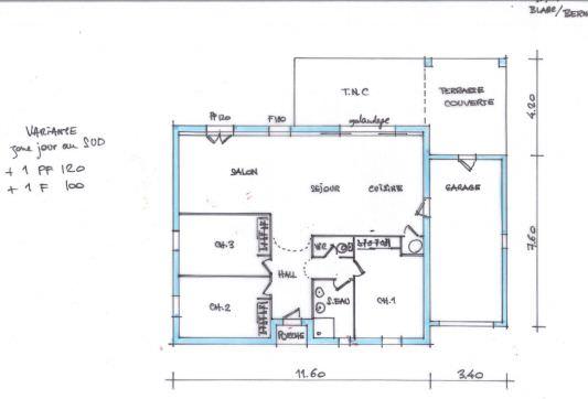 plan maison plain pied 95 m2