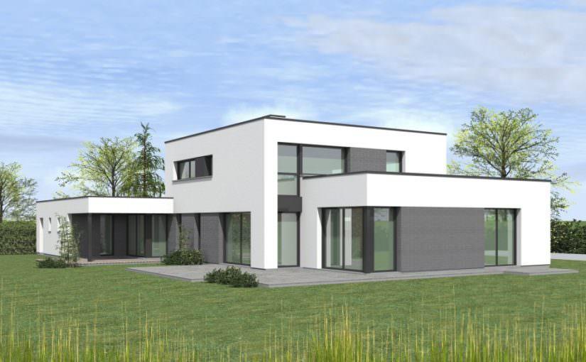 illustration maison cubique