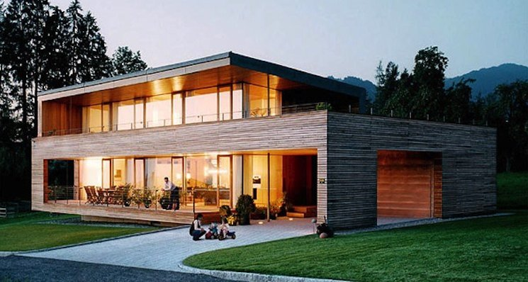 photo maison ossature bois
