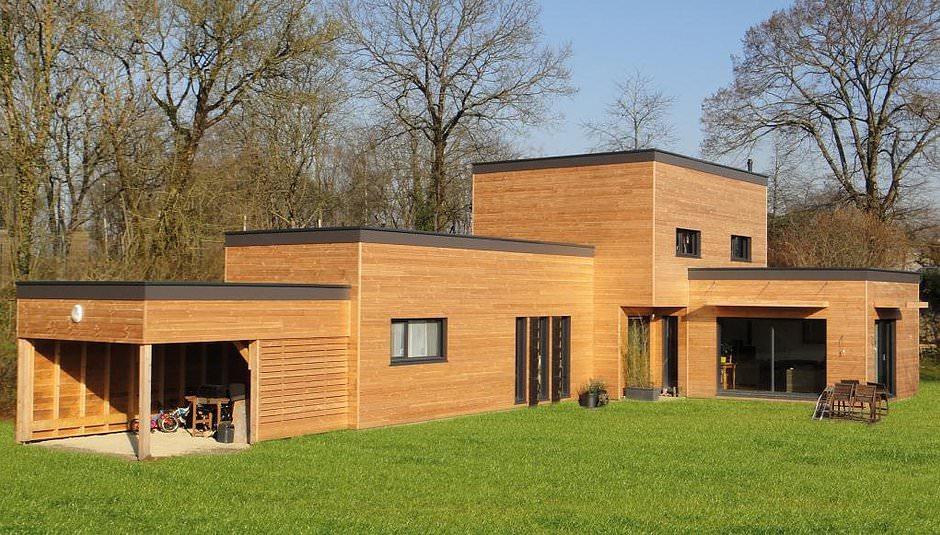 image maison ossature bois