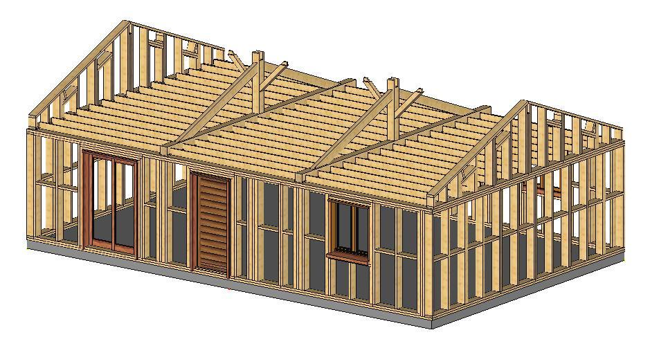exemple maison ossature bois