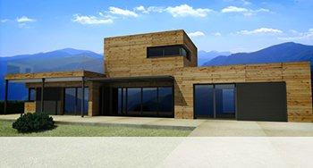 illustration maison ossature bois kit