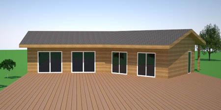 modèle maison ossature bois kit