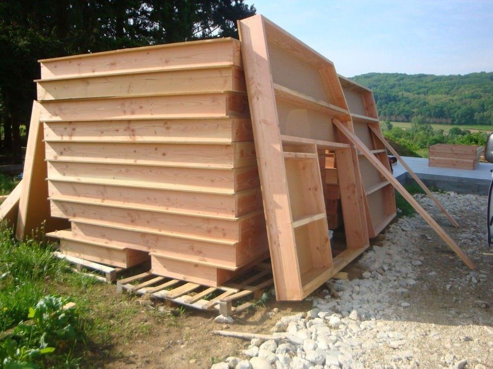 image maison ossature bois kit
