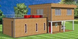 exemple maison ossature bois kit