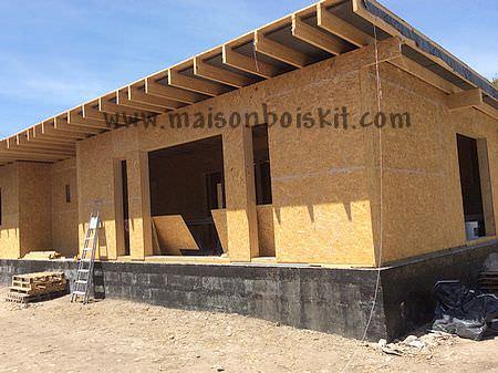 photo maison ossature bois kit