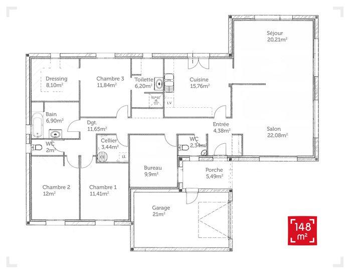 idée maison 150 m2