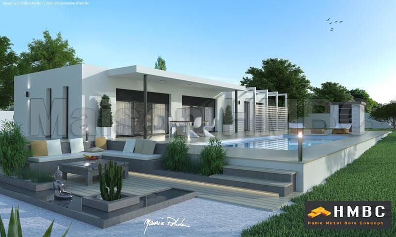 Idee maison moderne ide maison verandas modernes for Plan maison cubique 150 m2