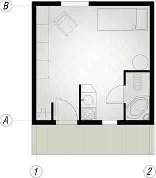 modèle maison 20m2