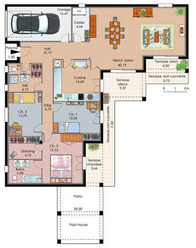 image maison 3 chambres