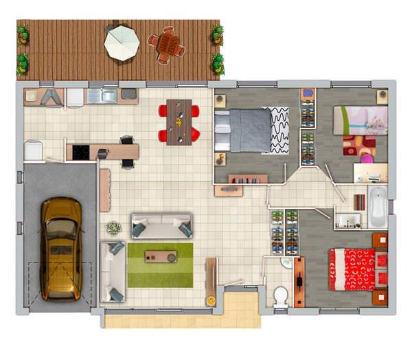 superbe maison 3 chambres