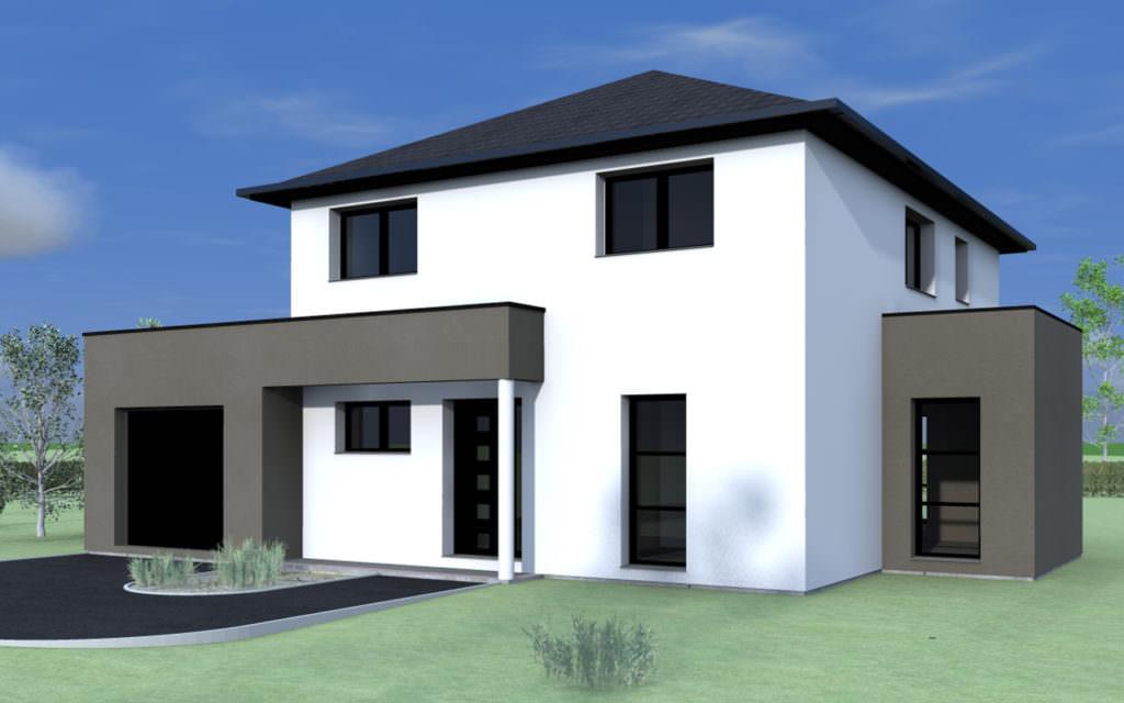 modèle maison 4 pans