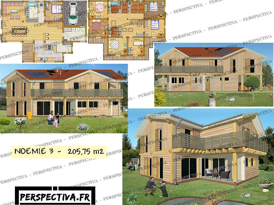 plan maison 7 chambres