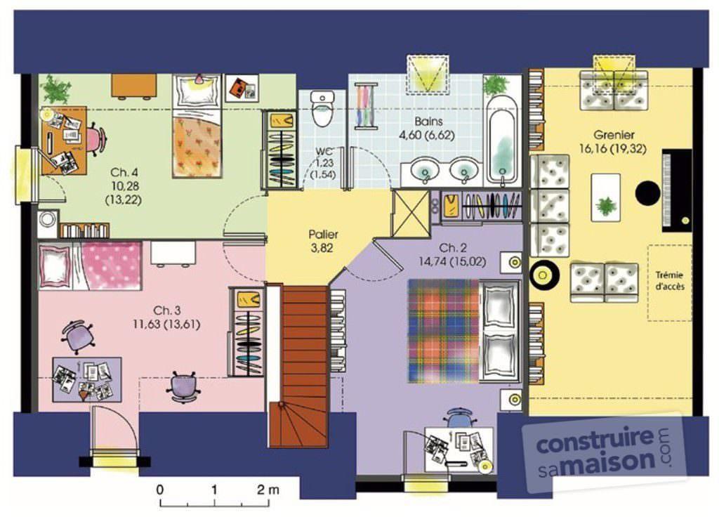 illustration maison 7 chambres